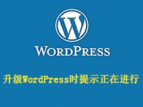 解决升级WordPress时提示:另一更新正在进行